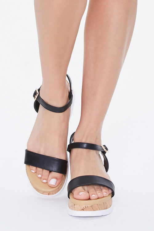 Faux Leather Cork Wedges, image 4