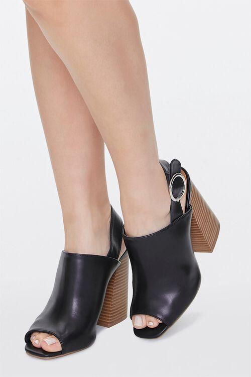 Stacked Wooden Block Heels, image 1