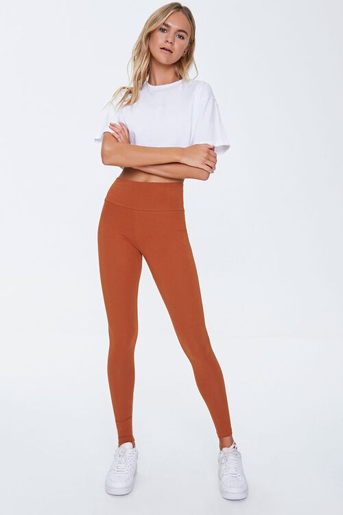 Basic Cotton-Blend Leggings, image 5