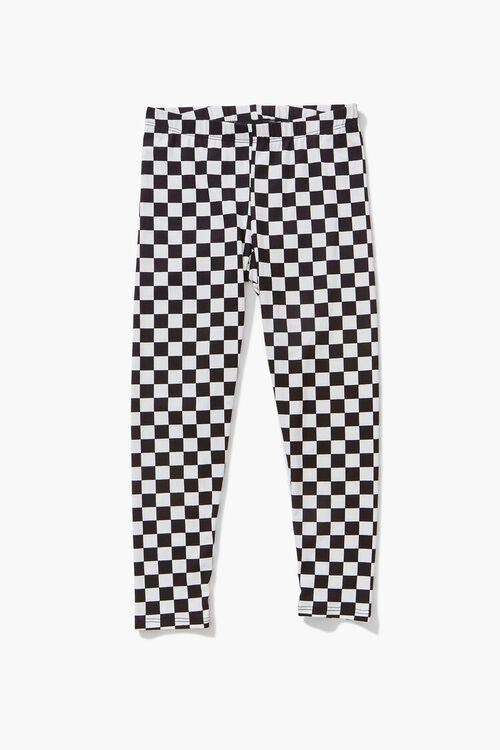 Girls Checkered Leggings (Kids), image 1