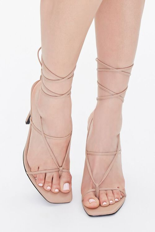 Strappy Toe-Thong Stiletto Heels, image 4