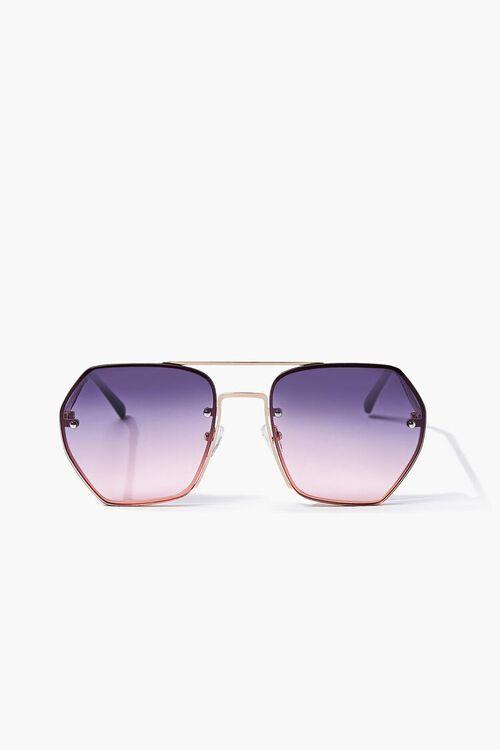 Aviator Geo Metal Sunglasses, image 1