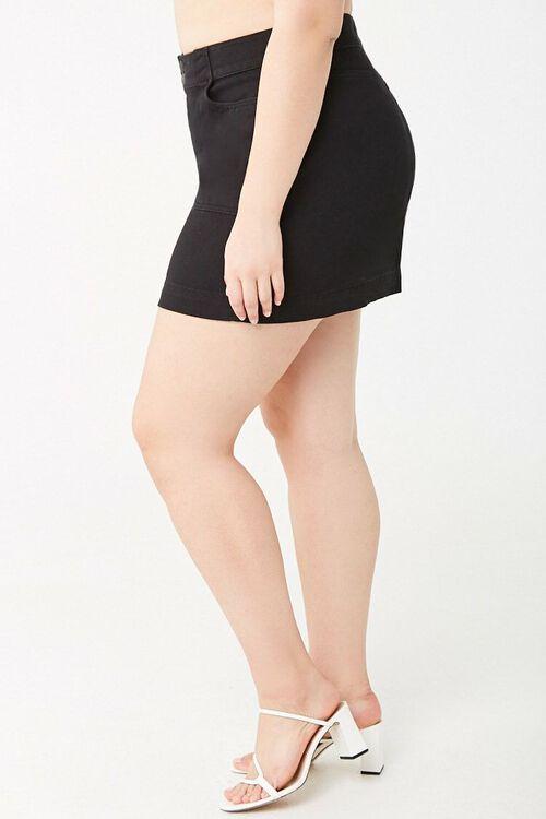 Plus Size A-Line Denim Skirt, image 3