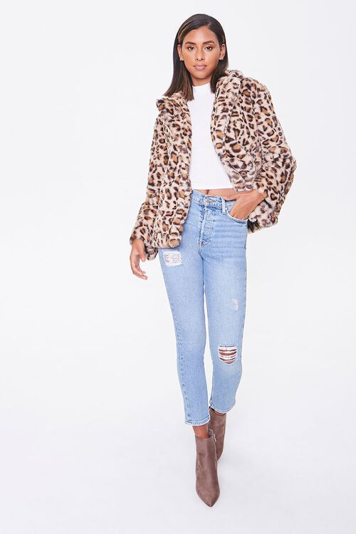 Plush Leopard Print Jacket, image 4