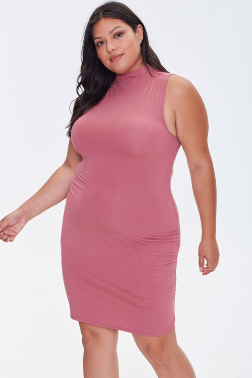 Plus Size Sleeveless Mini Dress, image 1