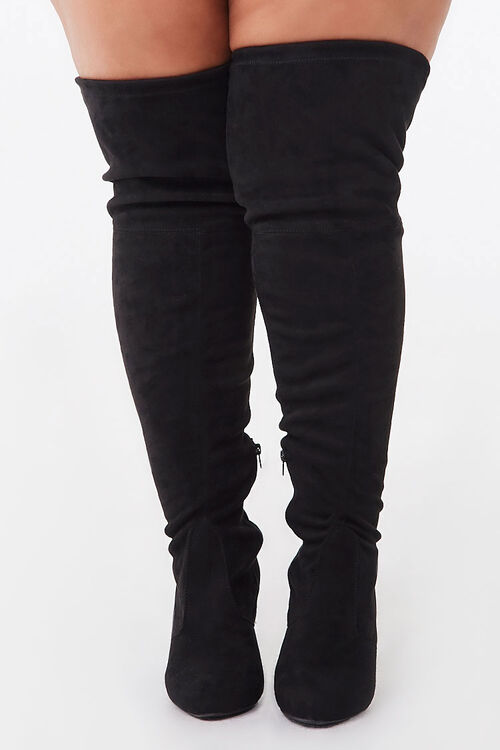Faux Suede Block Heel Boots (Wide), image 2