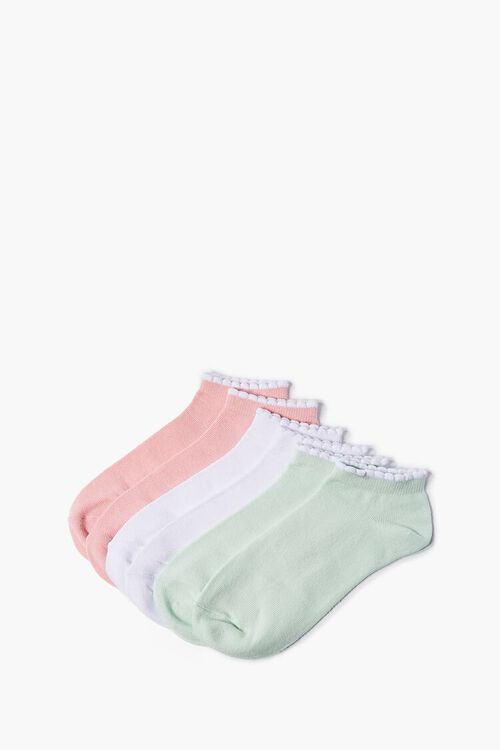 Scalloped Ankle Socks - 3 Pack, image 1