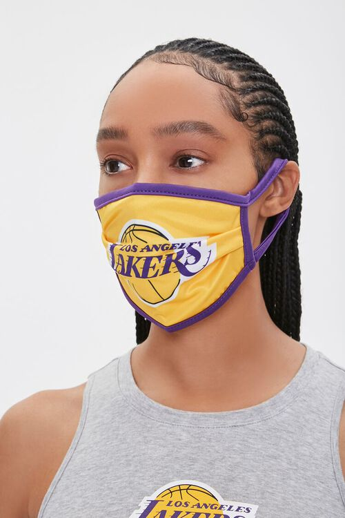 Lakers Graphic Face Mask, image 2