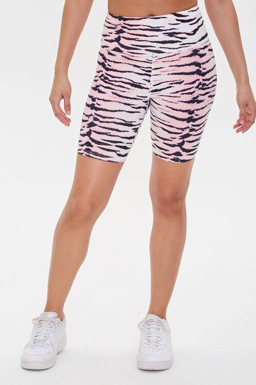 Active Floral Print High-Rise Biker Shorts, image 2