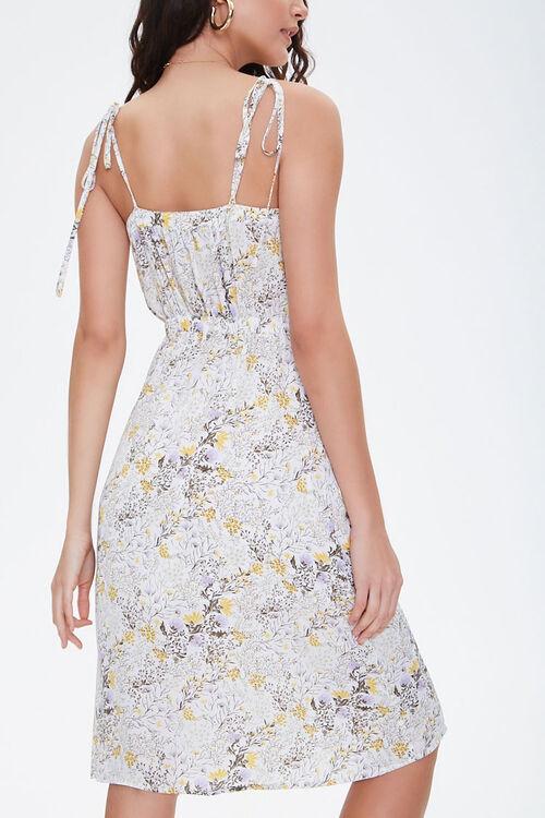 CREAM/MULTI Floral Chiffon Midi Dress, image 4