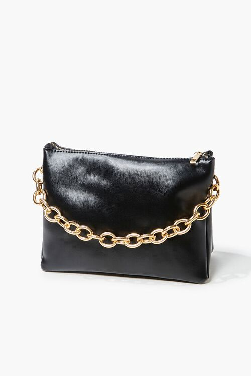 Chain Faux Leather Crossbody Bag, image 1