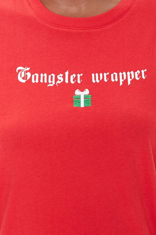 RED/WHITE Gangster Wrapper Tee, image 5