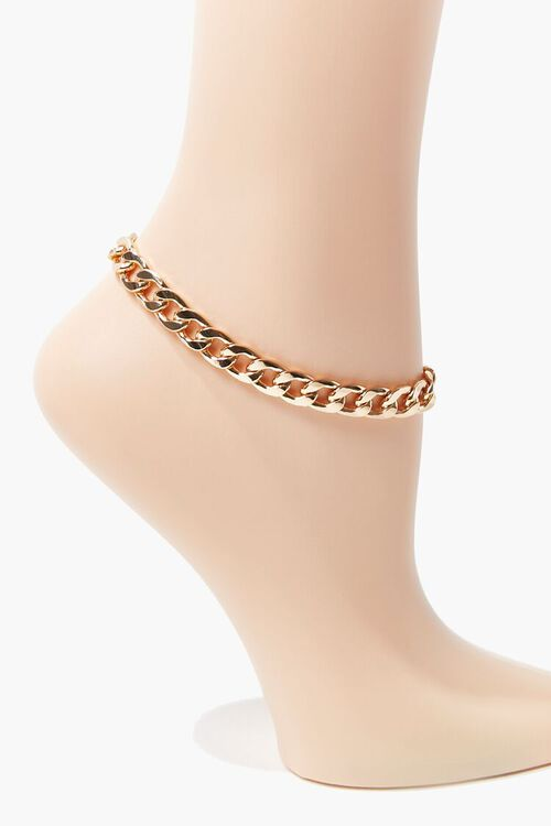 Burnished Curb Chain Anklet, image 1