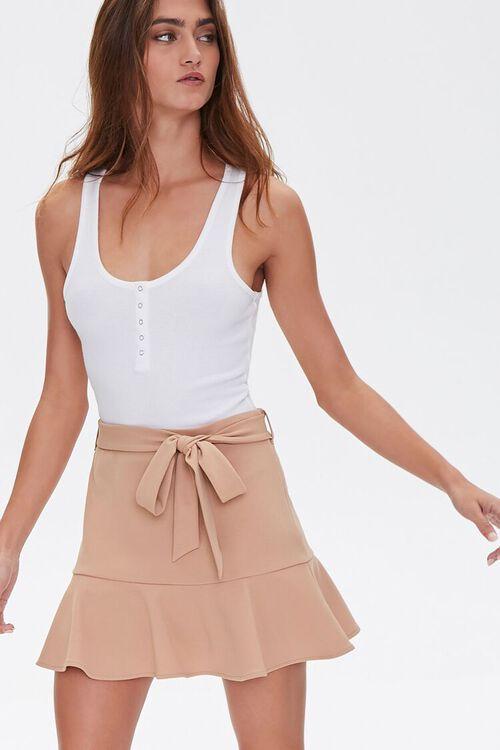 Flounce-Trim Mini Skirt, image 1