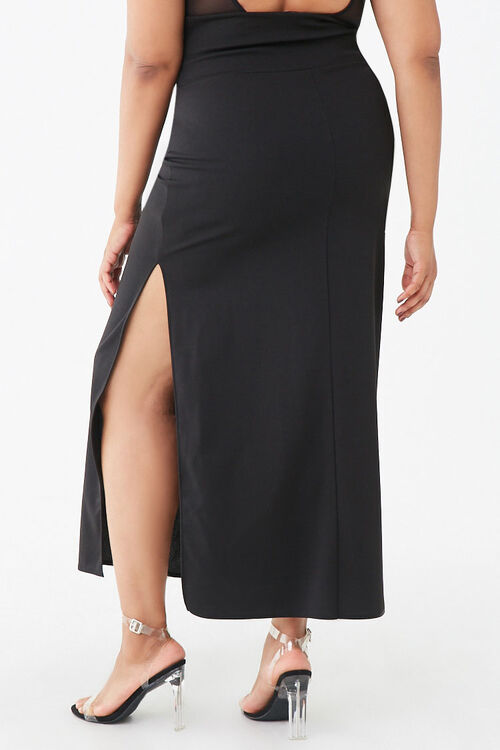 Plus Size Lace-Up Maxi Skirt, image 4