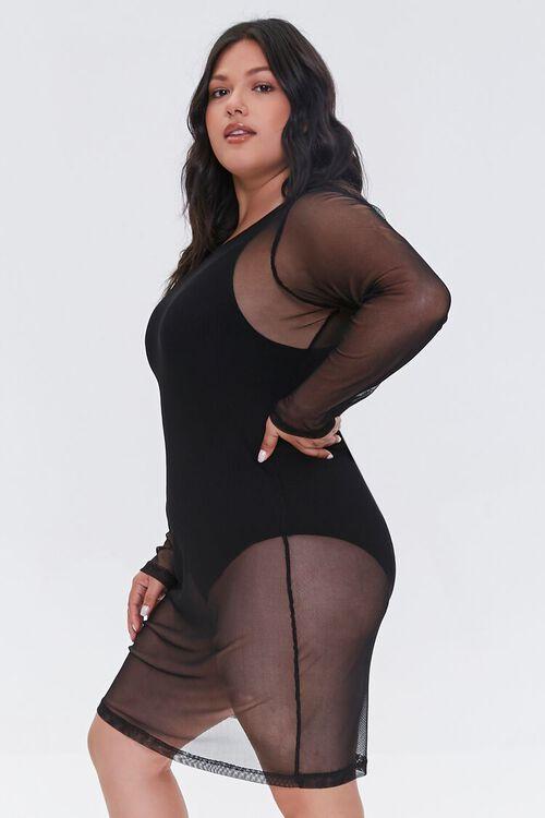Plus Size Mesh Swim Cover-Up Dress, image 2