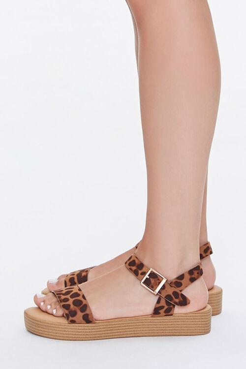 Cheetah Print Stacked Sandals, image 2