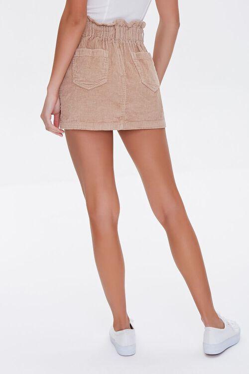 Paperbag Corduroy Mini Skirt, image 4