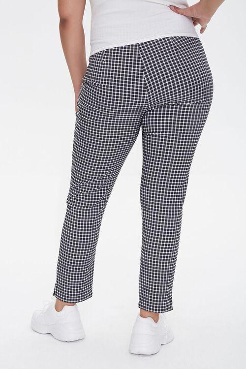 Plus Size Gingham Skinny Pants, image 4