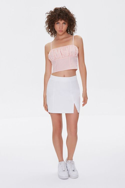 Gingham Lace-Up Cami, image 4