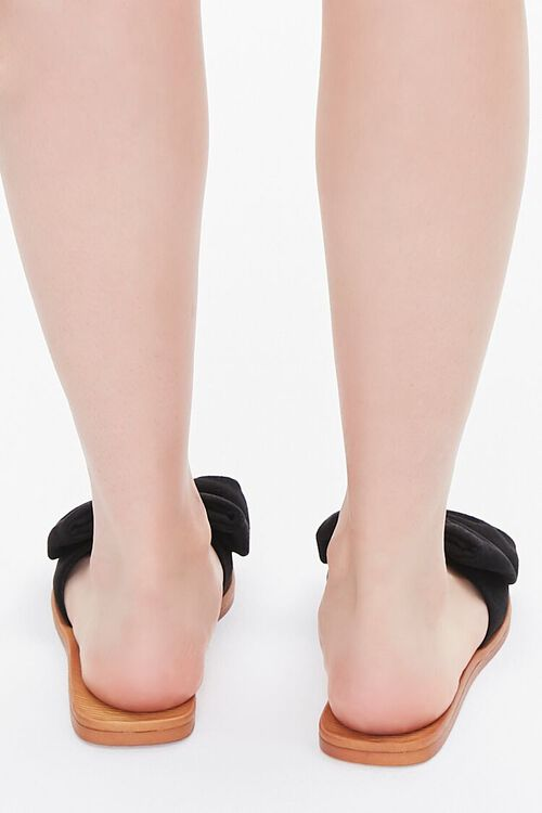 Faux Suede Bow Sandals, image 3