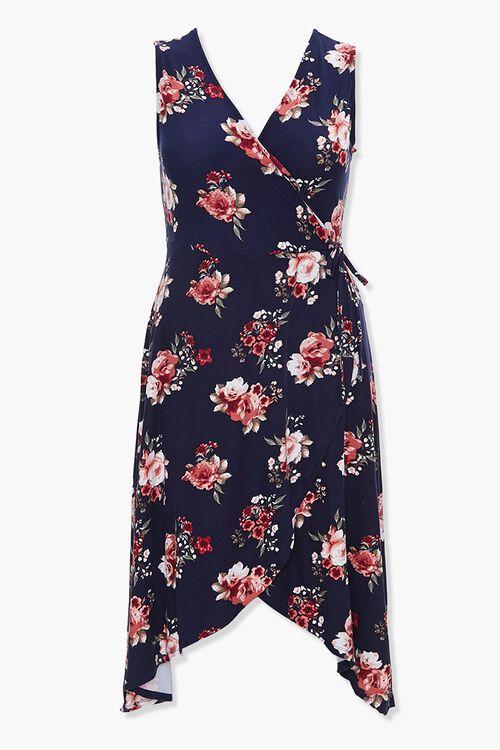 Plus Size Floral Tulip-Hem Dress, image 1