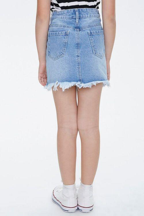 Girls Frayed Denim Skirt (Kids), image 4