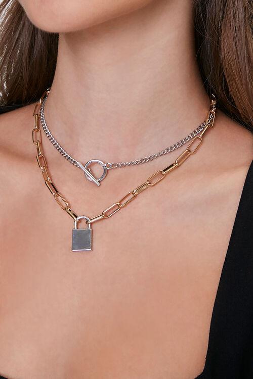 Lock Pendant Necklace Set, image 1