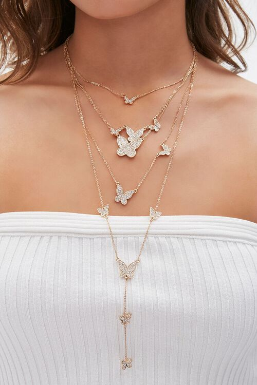 Statement Butterfly Pendant Necklace, image 1