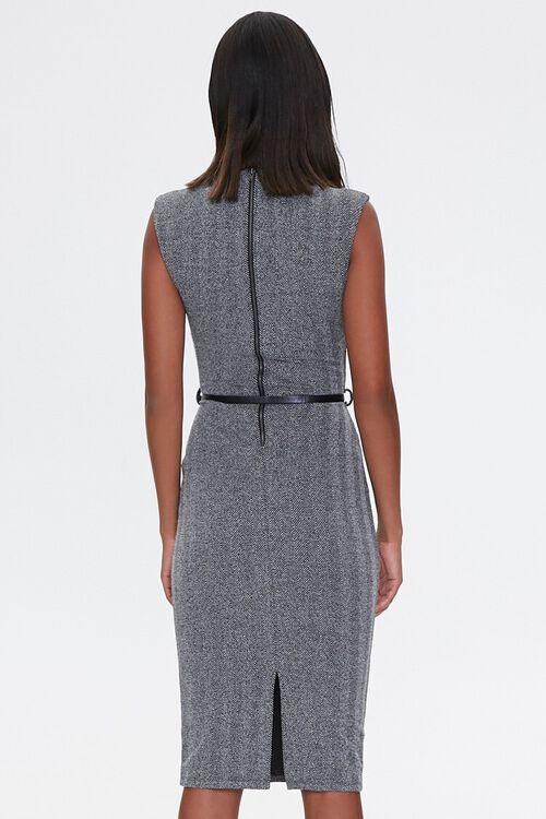 CHARCOAL/BLACK Herringbone Sheath Dress, image 3
