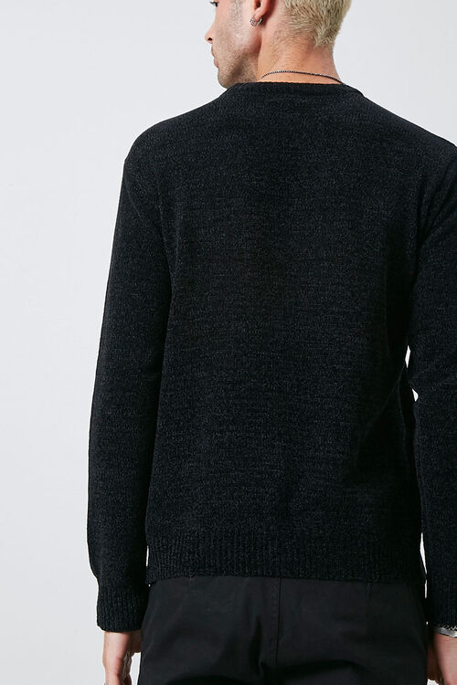 Chenille Crew Neck Sweater, image 3