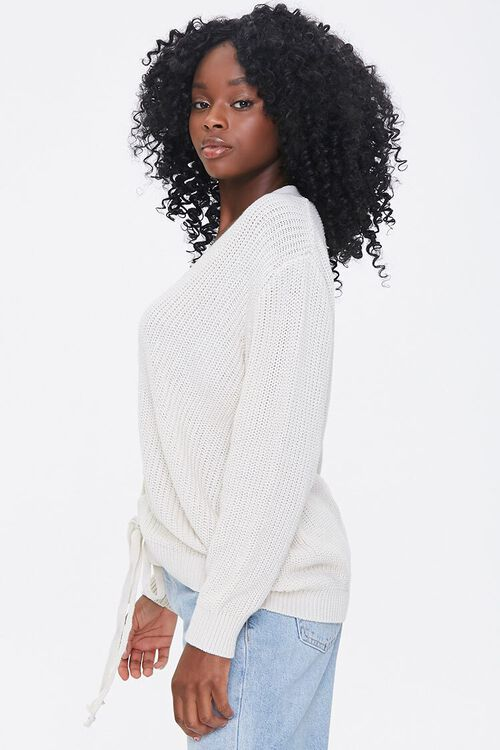 Ribbed Lace-Up Sweater, image 2