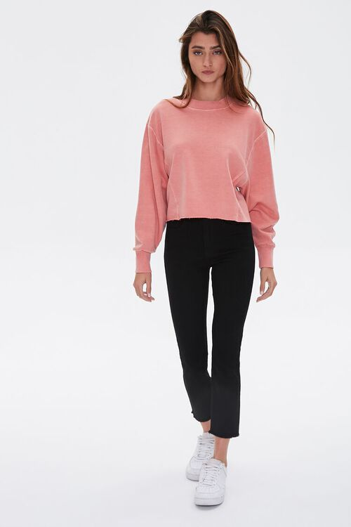 PINK French Terry Drop-Sleeve Top, image 4