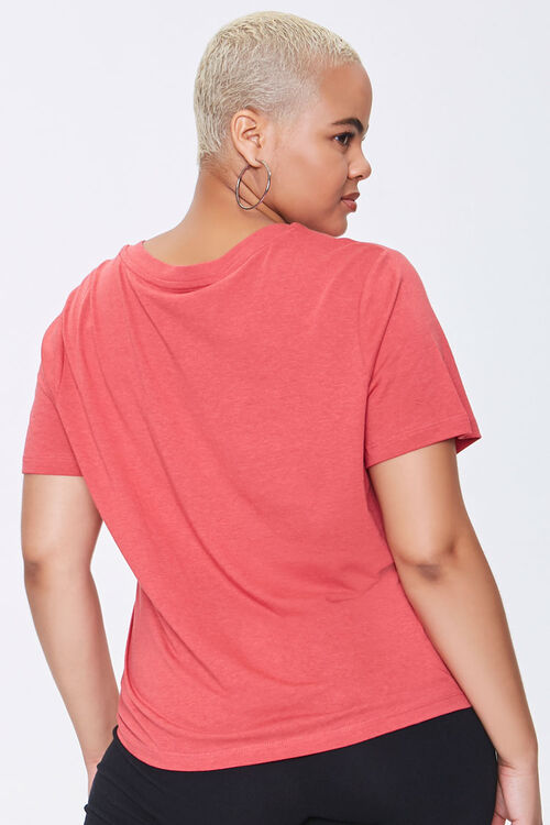 Plus Size Cotton-Blend V-Neck Tee, image 3