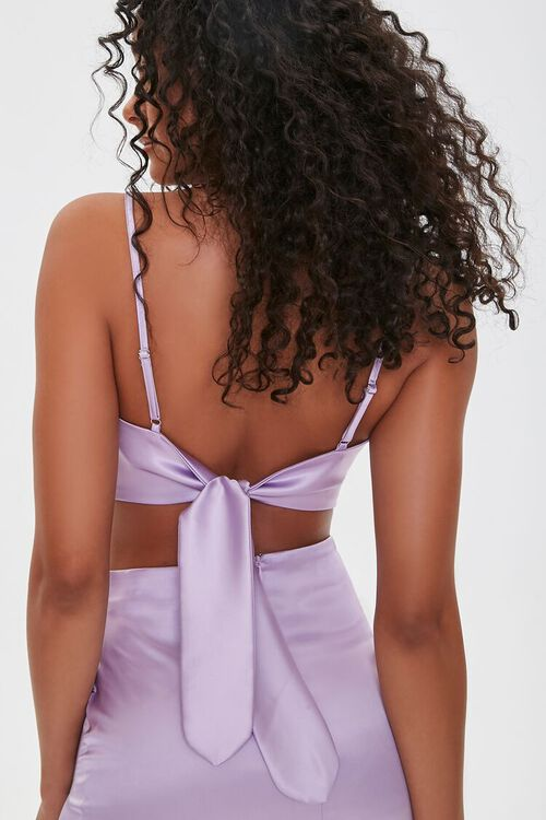 Satin Cropped Scarf Top, image 3