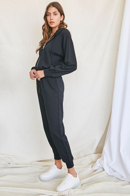 Hooded French Terry Jumpsuit, image 2