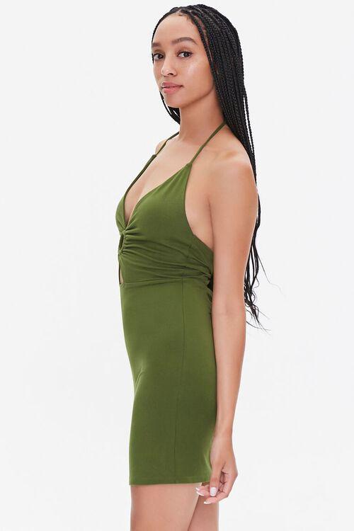 Cutout Halter Mini Dress, image 2