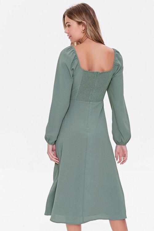 DARK GREEN Recycled Sweetheart Dress, image 3