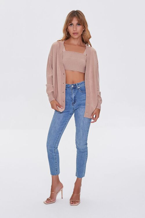 Sweater-Knit Crop Top & Cardigan Set, image 4