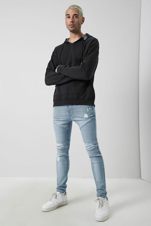 Distressed Moto Skinny Jeans, image 5