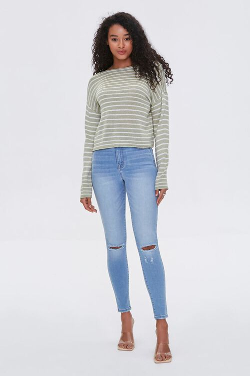 Striped Twist-Front Sweater, image 3