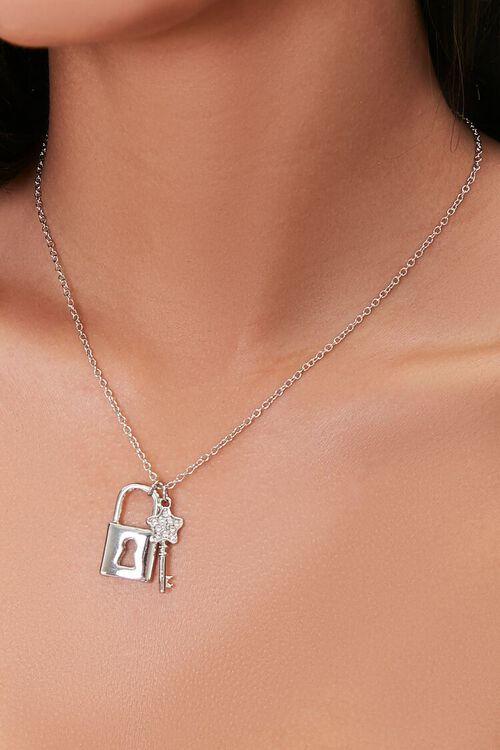 Lock & Key Pendant Necklace, image 1
