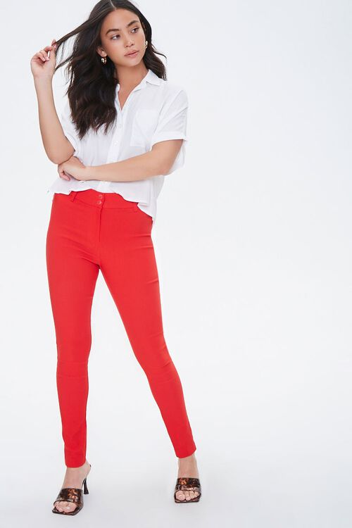 High-Rise Tapered Ankle Pants, image 4