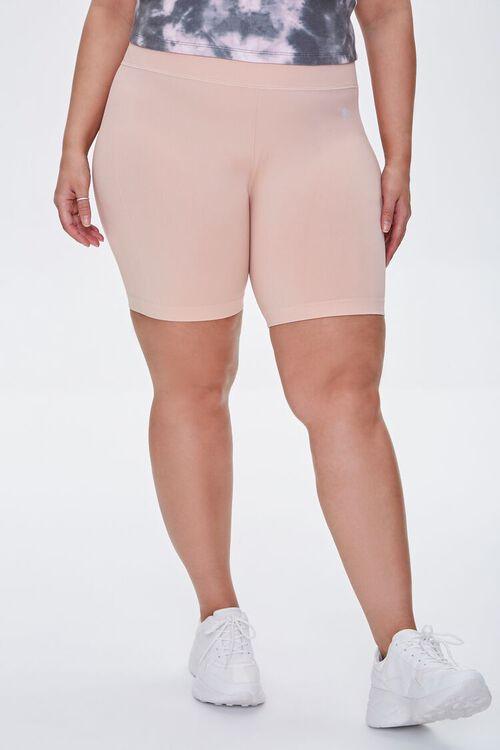 BLUSH Plus Size Active Biker Shorts, image 2