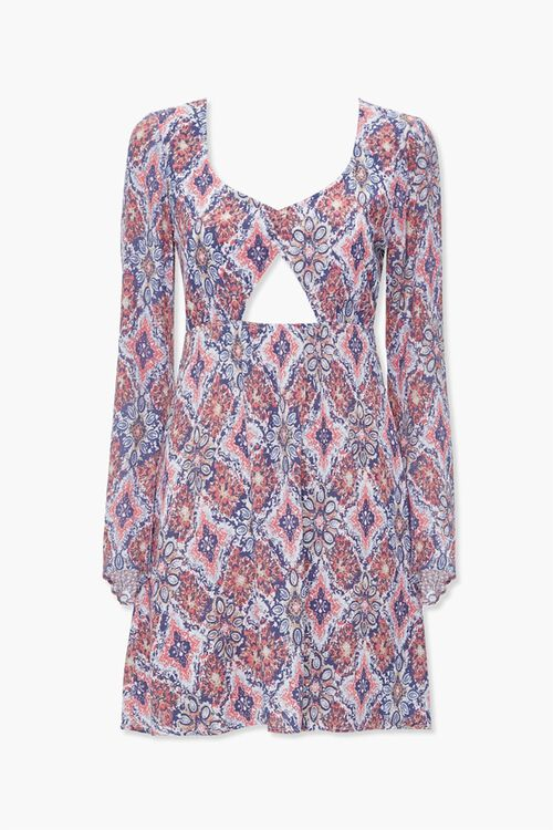 Geo Print Mini Dress, image 1