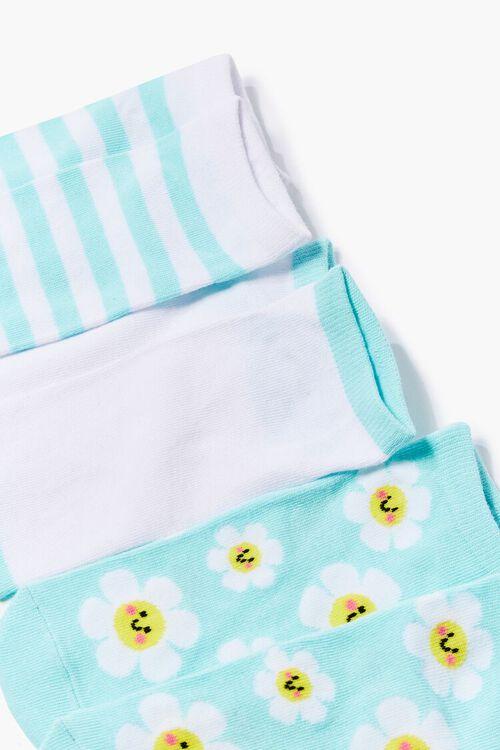 Daisy Print Ankle Socks Set, image 2