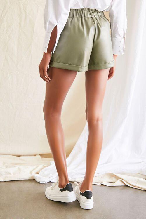 OLIVE Coated Cuffed Shorts, image 4