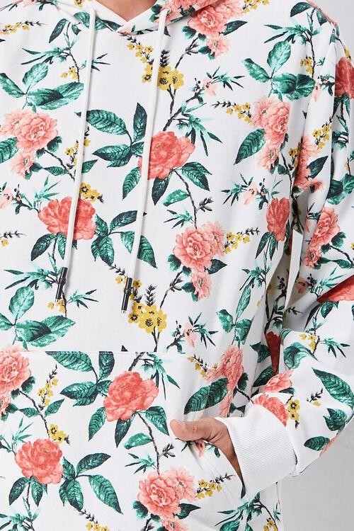 Floral Print Fleece Hoodie, image 5