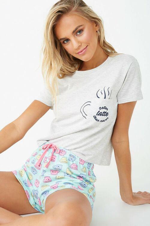 Coffee Graphic Pajama Set, image 1