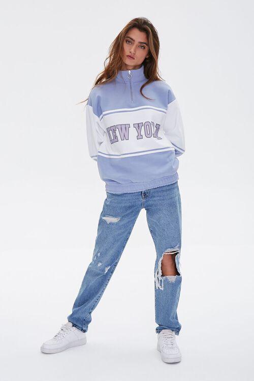 BLUE/MULTI New York Graphic Half-Zip Pullover, image 1